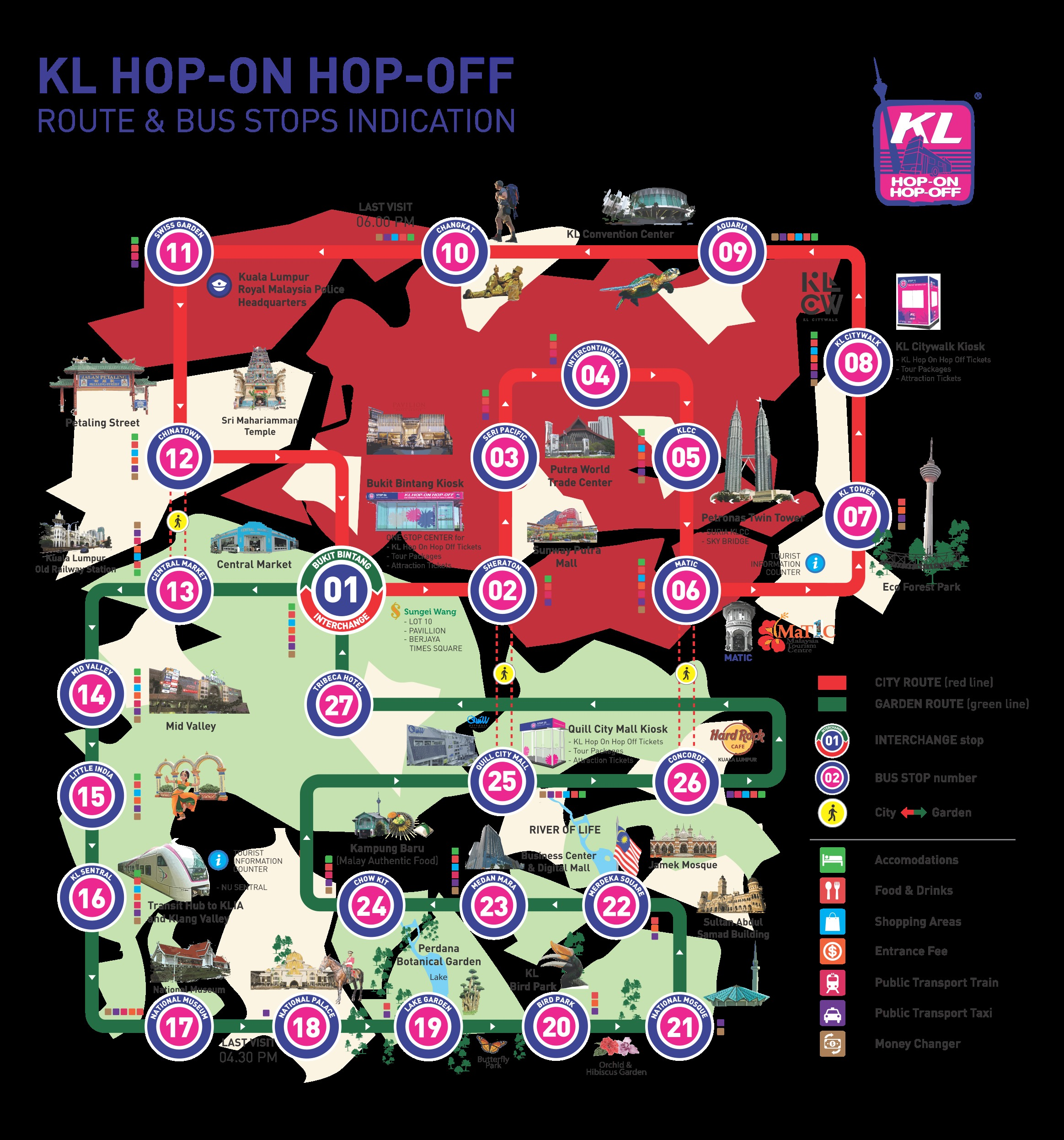 KL Hop On Hop Off Map